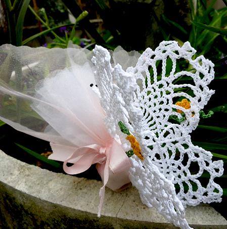 abbastanza Farfalla grande inamidata – Bomboniere artigianali di Artigianando  LP02